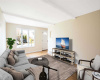 Virtually staged living room!
