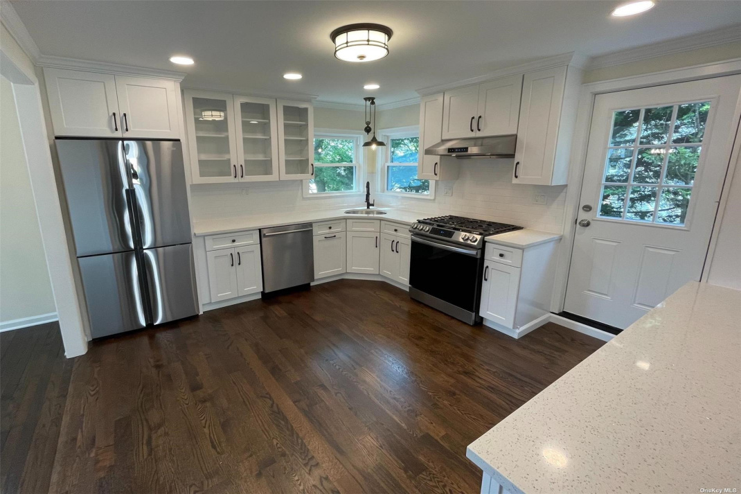 New kitchen with quartz counters