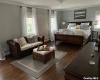 huge en suite with sitting area